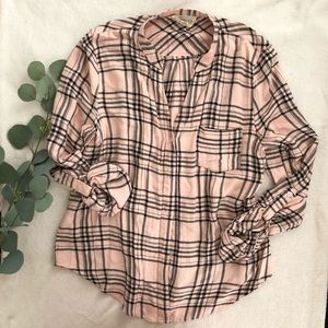 Pink and black flannel